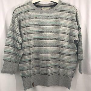 NWT Naketano Sweater in Grey-Light Mint Melange